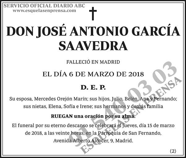 José Antonio García Saavedra